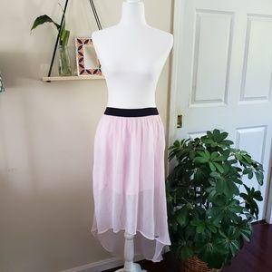 Hollister High low maxi skirt light pink medium